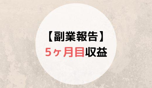 5ヶ月目元教員の副業収益報告【ちょっとダウン↓】
